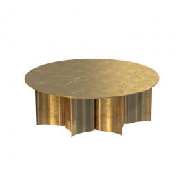 Inspired by the exquisite beauty of the Lotus flower, this center table characterized by its clean straight lines is associated with beauty and the art of carefully handle metals. Lotus Center Table is a promessing mesmerizing piece with a powerful presen